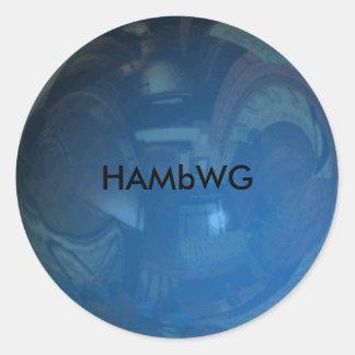 HAMbyWG - Stickers - Blue w/ Logo