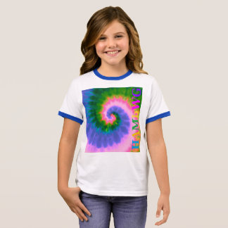 HAMbyWG - T-Shirts - Tie Dye Multi-Color Side Logo
