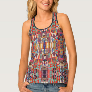 HAMbyWG - Tank Tops - Colorful Moroccan Pattern