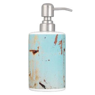 HAMbyWG - TB Holder n Soap Disp. - Aqua Distressed