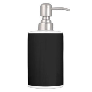 HAMbyWG - TB Holder n Soap Disp. - Black on White Bath Sets
