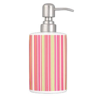HAMbyWG -TB Holder n Soap Disp. Pink Bar Stripe Soap Dispensers