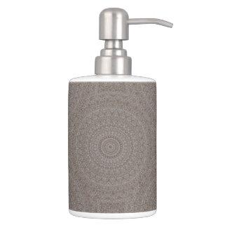 HAMbyWG TB Holder n Soap Dispense - Khaki boho Bath Sets