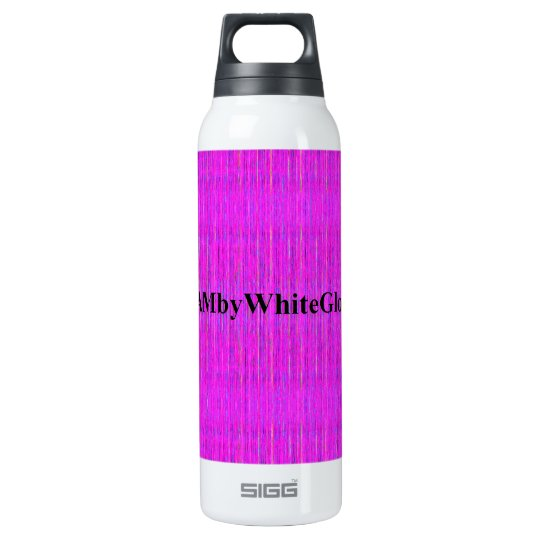 HAMbyWG -  Thermos (0.5L), White w Violet Mix Insulated Water Bottle