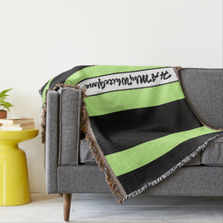 HAMbyWG - Throw Blanket Black & Lime Sherbert