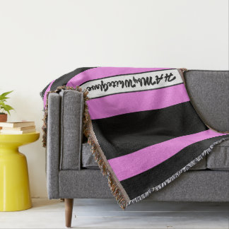 HAMbyWG - Throw Blanket Black & Raspberry Sherbert