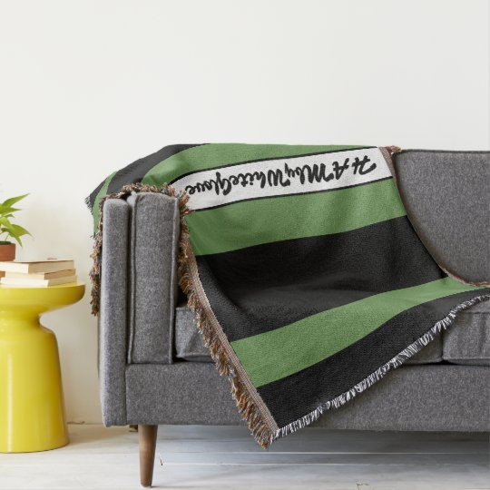 HAMbyWG - Throw Blanket Black & Sage
