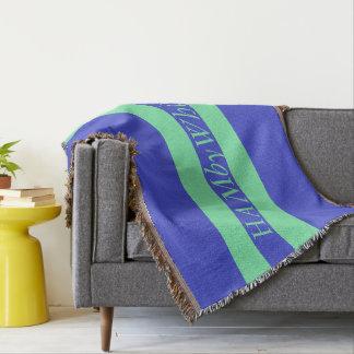 HAMbyWG - Throw Blanket Bright Blue & Mint Logo