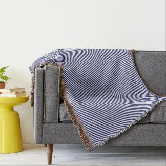HAMbyWG - Throw Blanket - Navy & White Diagonal
