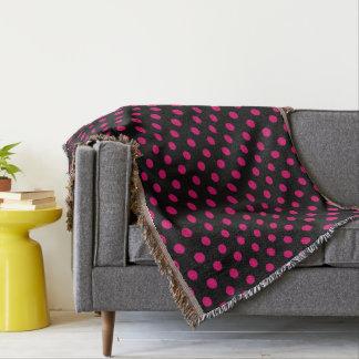 HAMbyWG - Throw Blanket - Periwinkle Polka Dots