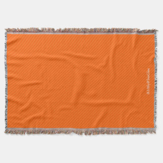 HAMbyWG - Throw Blanket - Two/Tone orange stripe