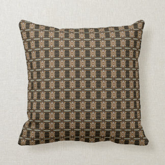 "HAMbyWG - Throw Pillow 16"" Art Deco Ivory Onyx"