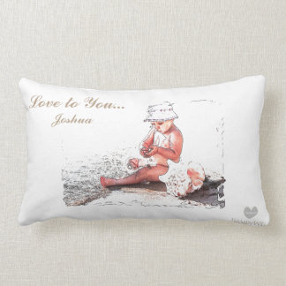 HAMbyWG - Throw Pillow - Baby on Beach
