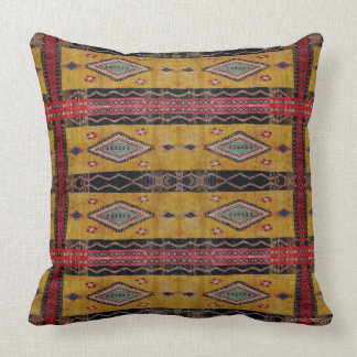 HAMbyWG - Throw Pillow - Boho Yellow Black Red