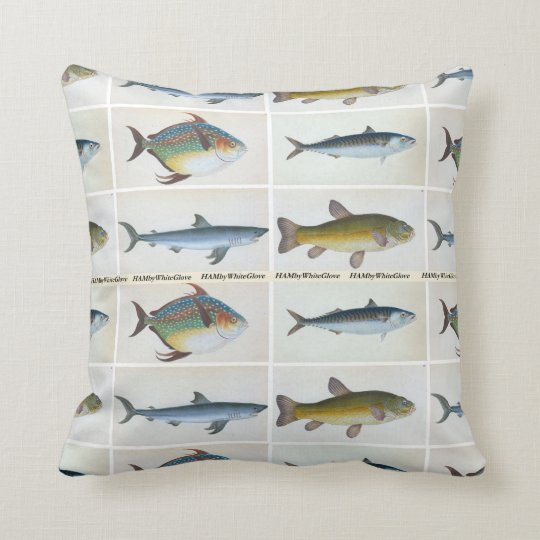 HAMbyWG - Throw Pillow - Four Fish
