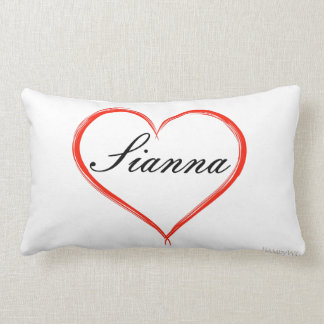 HAMbyWG - Throw Pillow - Heart with Name