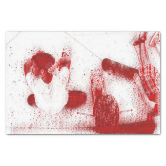 HAMbyWG - Tissue Paper -  Skateboarder at Rest Red