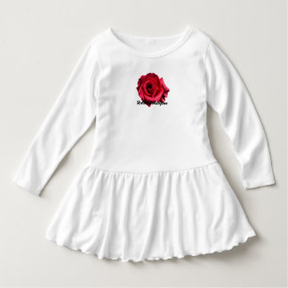 HAMbyWG - Toddler Ruffle Dress - Red Rose Logo