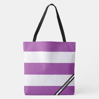 HAMbyWG- Tote Bag - LG  Violet & White W Logo