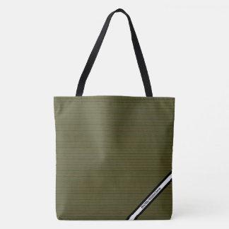 HAMbyWG - Tote Bag - Seaweed Stripes W Logo
