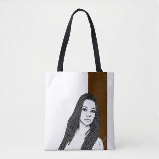 HAMbyWG - Tote Bag - Woman Brown White