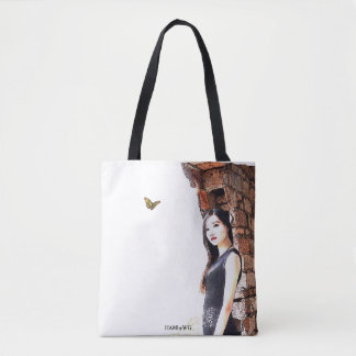 HAMbyWG - Tote Bag - Woman w Butterfly