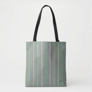 HAMbyWG - Tote Bags - Blues Yellows Fine Lines