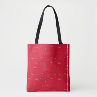 HAMbyWG - Tote - Tiny Hearts,  Sweet Words!