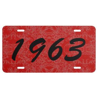 HAMbyWG - Vanity License Plate - 2 Tone Print