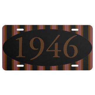 HAMbyWG - Vanity License Plate - Black/Root Bear