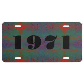 HAMbyWG Vanity Name License Plate -Red Green Viole