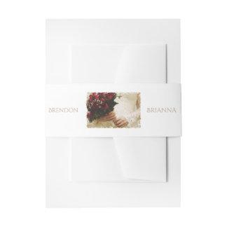 HAMbyWG - Wedding Invitation/Envelope - Rose Bride Invitation Belly Band