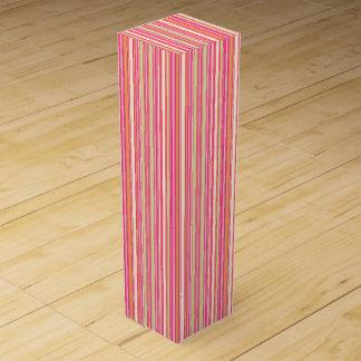 HAMbyWG - Wine Gift Box - Pink Sherbert Bar Stripe