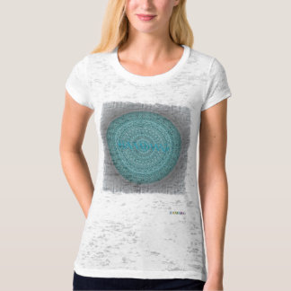 HAMbyWG - Womens  Boho Circle in Deep Aqua T-Shirt