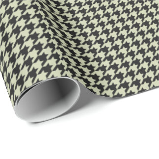 HAMbyWG Wrapping Paper - Black/Beige Houndstooth