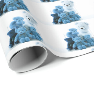 HAMbyWG - Wrapping Paper - Blue Teddy Bears