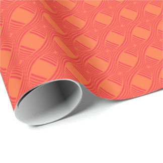 HAMbyWG Wrapping Paper - orange sherbert abstract