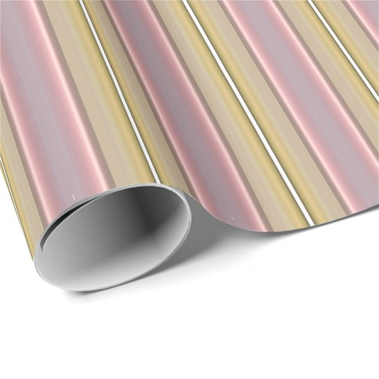 HAMbyWG - Wrapping Paper - Pink & Yellow Stripe