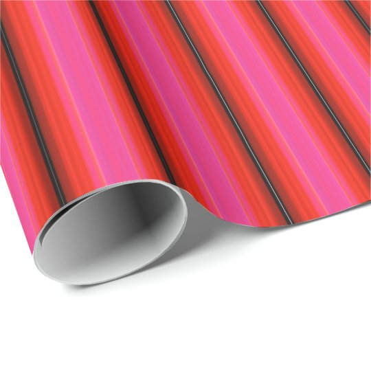 HAMbyWG - Wrapping Paper - Red Pink Stripe