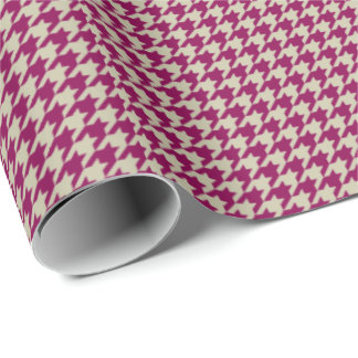 HAMbyWGWrapping Paper - Cherry Clay Houndstooth