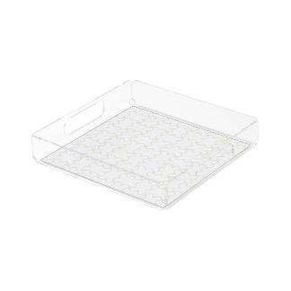 HAMbyWhite Glove Acrylic Tray - White Basket Mimic