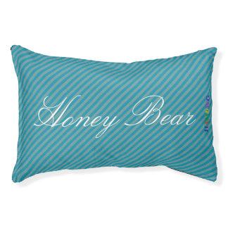 HAMbyWhiteGlove   Aqua Stripe Stripe Dog Bed