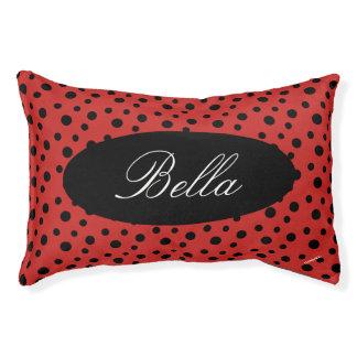 HAMbyWhiteGlove   Black Polka Dot Dog Bed