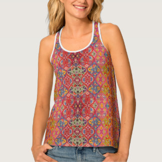 HAMbyWhiteGlove - Bright Colorful Moroccan Tank Top