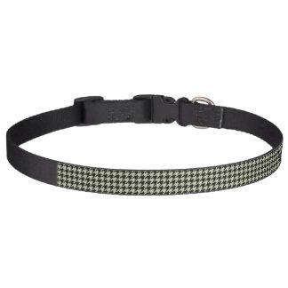 HAMbyWhiteGlove - Collar - Black Houndstooth Pet Collars