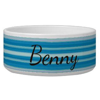 HAMbyWhiteGlove - Dog food Bowl  - Aqua