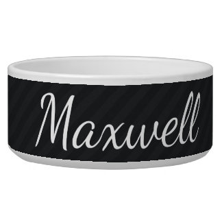 HAMbyWhiteGlove - Dog food Bowl - Black/Black