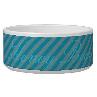 HAMbyWhiteGlove - Dog food Bowl - Blueish Gray