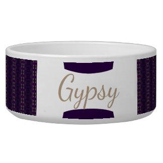 HAMbyWhiteGlove - Dog food Bowl - Gypsy Amethyst