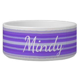 HAMbyWhiteGlove - Dog food Bowl  - Purple